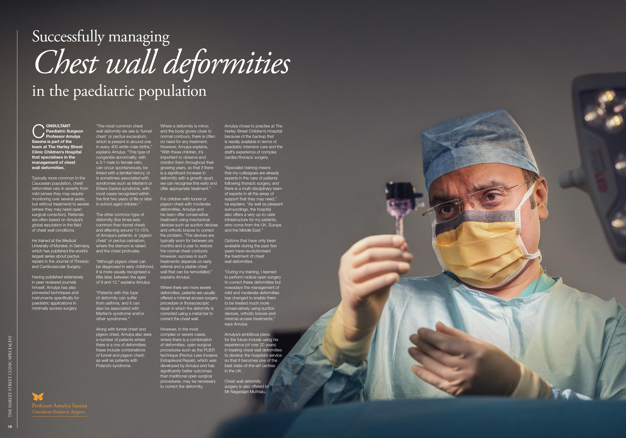 Consultant operating and performing surgery, magazine article