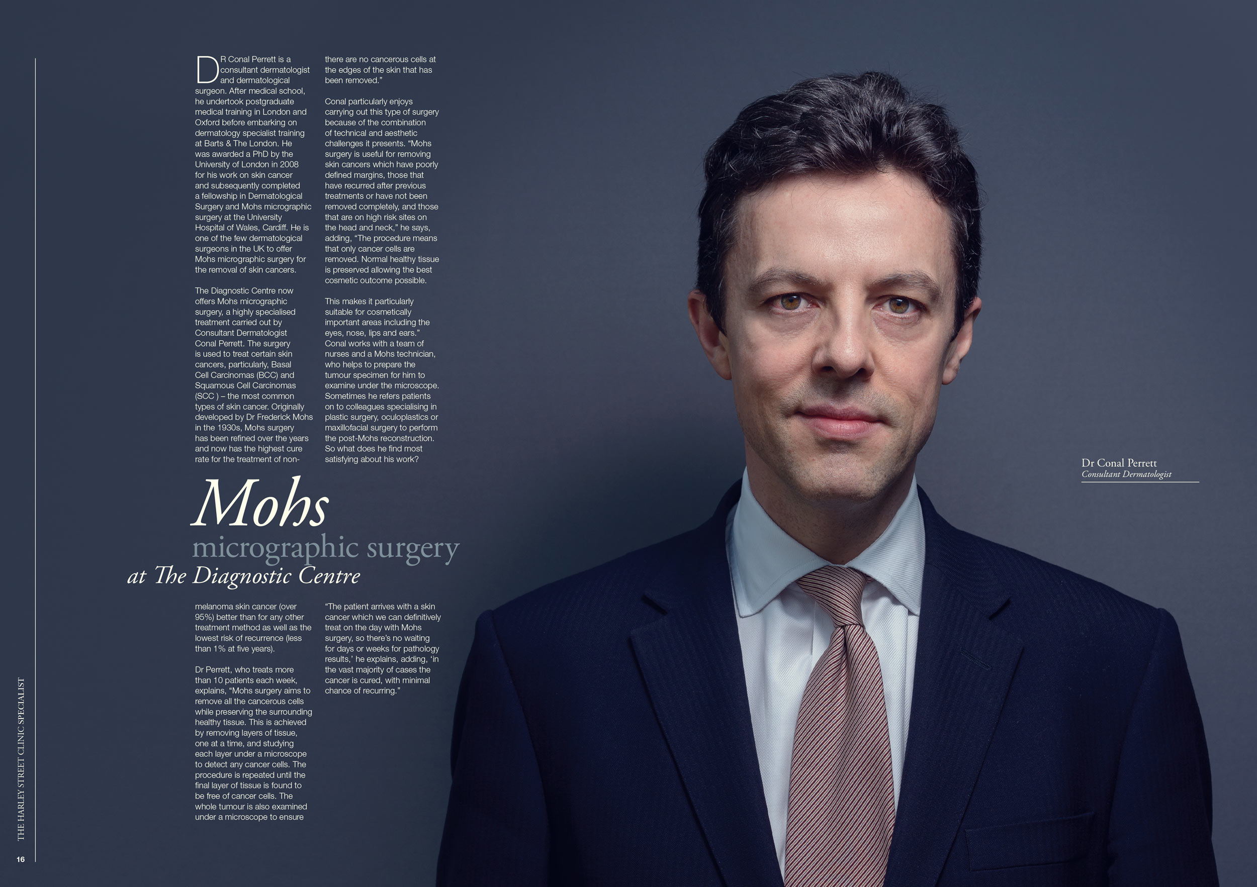 Harley Street consultant portrait, magazine article