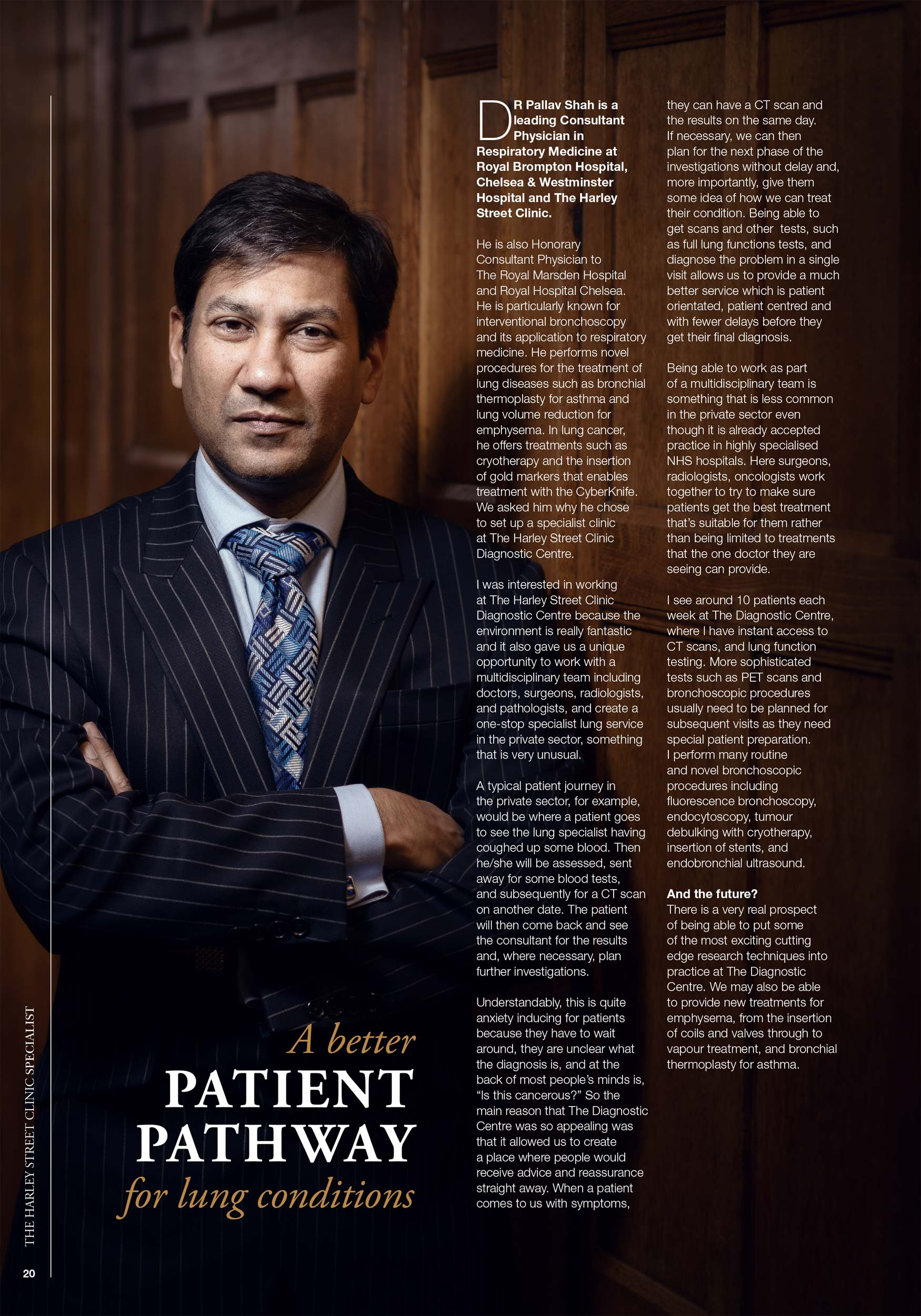 Harley Street consultant portrait, wood panelling