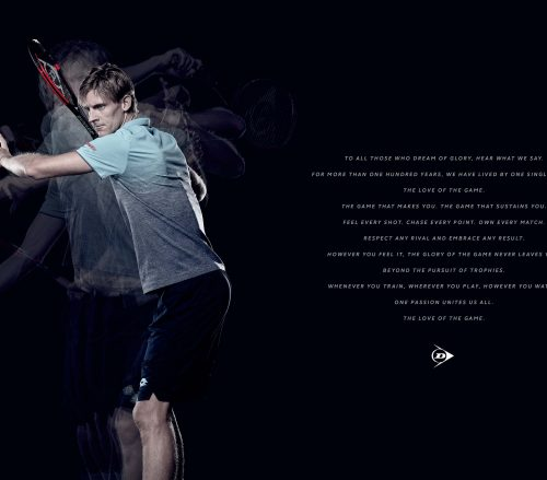 Kevin Anderson forehand for Dunlop Campaign Ad